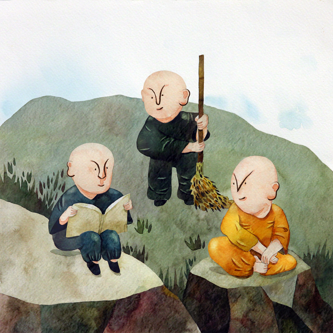 Three Monks Cover